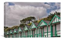 Beach Huts Langland Bay Swansea 3, Canvas Print