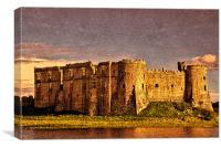 Carew Castle Sunset, Canvas Print
