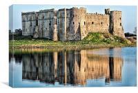 Carew Castle Reflections, Canvas Print