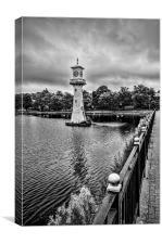 Scott Memorial Lighthouse Roath Park Cardiff 3 mo, Canvas Print