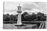 Scott Memorial Lighthouse Roath Park Cardiff 6 mon, Canvas Print