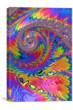 Spiral Rainbow, Canvas Print