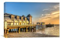 Penarth Pier Dawn, Canvas Print