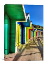Barry Island Beach Huts 5, Canvas Print