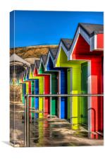 Barry Island Beach Huts 12, Canvas Print