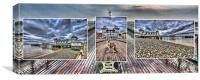 Penarth Pier Triptych, Canvas Print