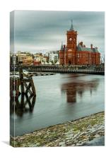 Pierhead Building Cardiff Bay, Canvas Print