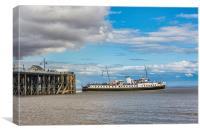 MV Balmoral Departs, Canvas Print