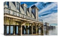 Penarth Pier From The Beach, Canvas Print