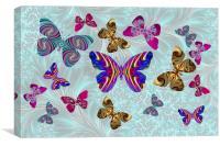 Fractal Butterfly Paradise, Canvas Print