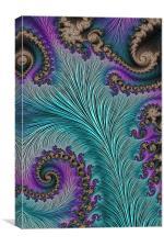 Aqua Fronds, Canvas Print