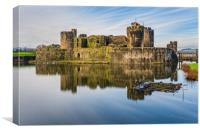 Caerphilly Castle Long Exposure 1, Canvas Print