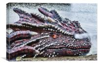 St Davids Day Dragon, Canvas Print