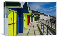 Beach Huts At Barry Island, Canvas Print