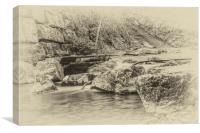 Caradocs Falls 1 Antique, Canvas Print