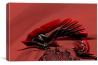 Chameleon Red, Canvas Print