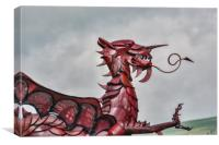 Gareth The Dragon 3, Canvas Print