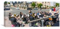 Brass Band Panorama, Canvas Print