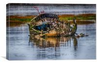 Barry Island Wrecks 1, Canvas Print