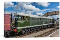 Class 31 Diesel 2, Canvas Print