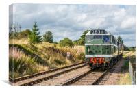 Class 31 Diesel 4, Canvas Print