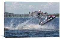 AquaX Jetski Racing 1, Canvas Print