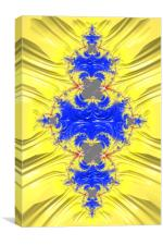 Blue And Yellow Abstract, Canvas Print