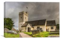 St Sannans Church At Bedwellty, Canvas Print