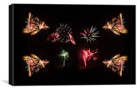 Firework Frenzy, Canvas Print