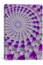 Tunnel Vision Purple, Canvas Print