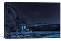 Dylan Thomas Boathouse Starry Night, Canvas Print