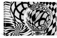 Crystal Ball Op Art 1, Canvas Print