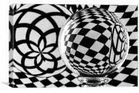 Crystal Ball Op Art 2, Canvas Print