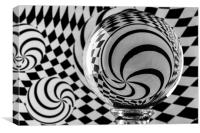 Crystal Ball Op Art 4, Canvas Print