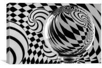 Crystal Ball Op Art 5, Canvas Print