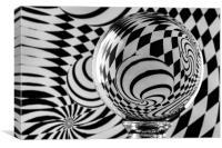 Crystal Ball Op Art 7, Canvas Print
