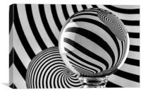 Crystal Ball Op Art 11, Canvas Print
