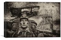Mining Tribute Antique 1, Canvas Print