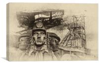 Mining Tribute Antique 2, Canvas Print