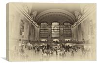 Grand Central Terminal Vintage, Canvas Print
