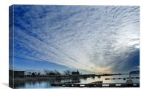 Cardiff Bay Big Sky, Canvas Print
