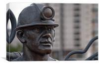 Miner Statue, Canvas Print