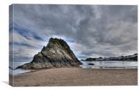 Goscar Rock, Tenby, Canvas Print