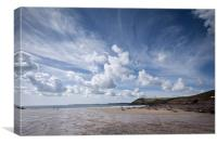 Manorbier Beach, Pembrokeshire, Canvas Print