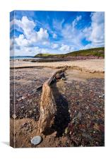 Manorbier Beach, Pembrokeshire 2, Canvas Print