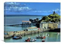 Tenby Harbour, Pembrokeshire, Canvas Print