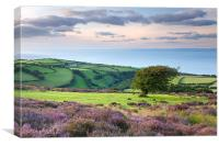 Porlock To Culbone., Canvas Print