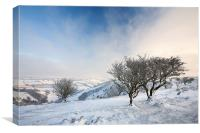 Snow On Winsford Hill, Canvas Print