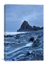 Black Church Rock, Canvas Print