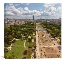 Champs de Mars, Canvas Print